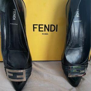 Fendi Patent Flats